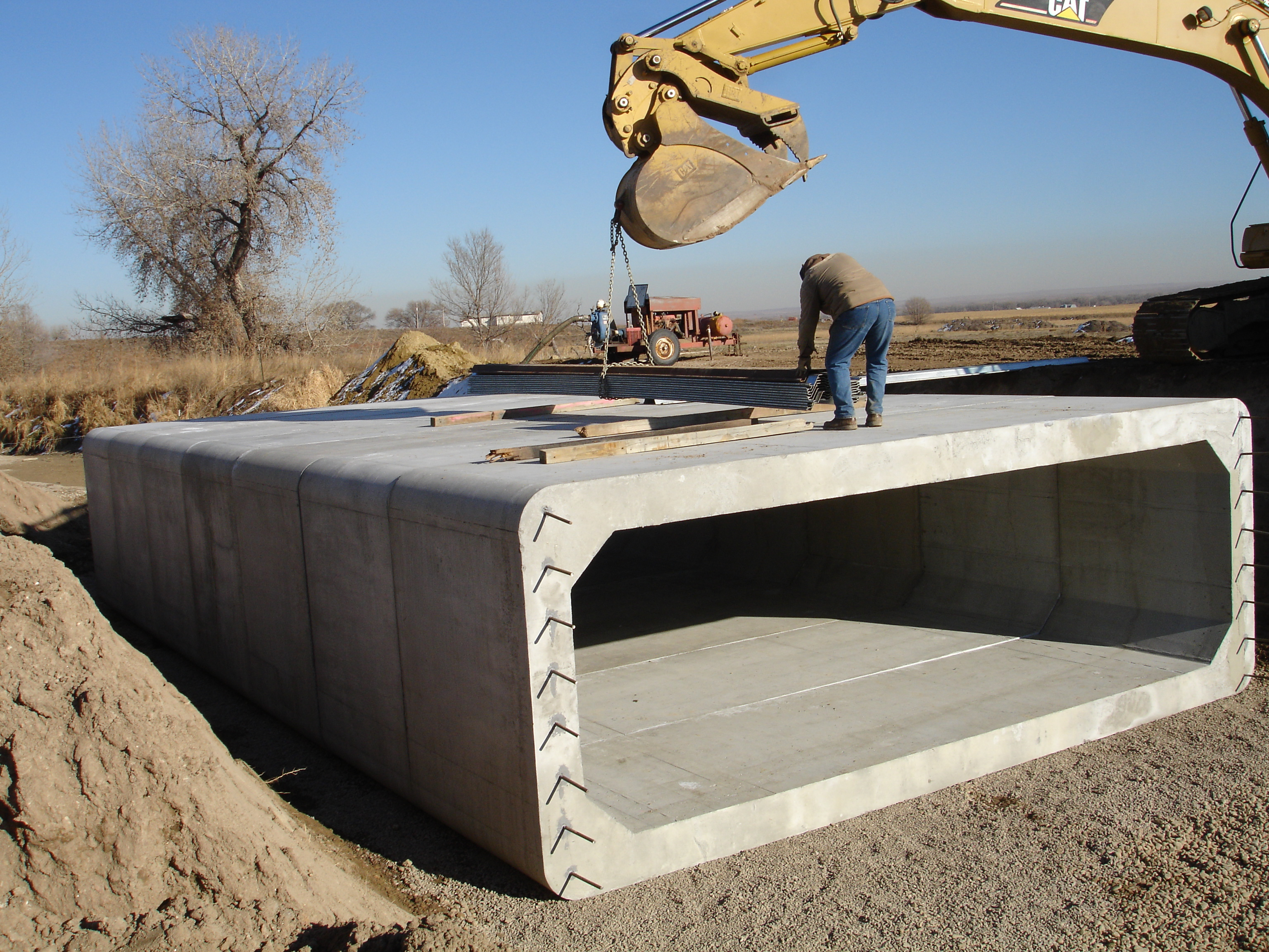Precast Box Culvert Installation